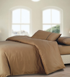 Spread Brown 100% Cotton Double Size Duvet Cover - 1582055