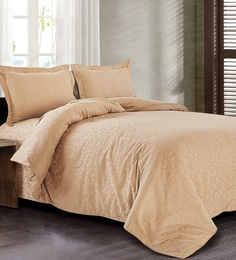 Spread Brown 100% Cotton Double Size Duvet Cover