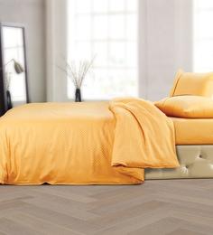 Spread Mustard 100% Cotton Double Size Duvet Cover