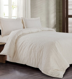 Spread Off White 100% Cotton Double Size Duvet Cover