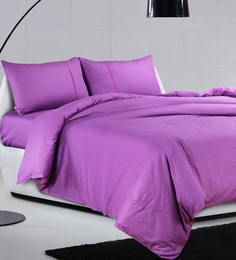 Spread Purple 100% Cotton Double Size Duvet Cover