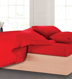 Spread Red 100% Cotton Double Size Duvet Cover - 1582084