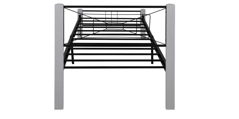 Buy Spider Wrought Iron Single Bed in White Colour by Evok Online ...