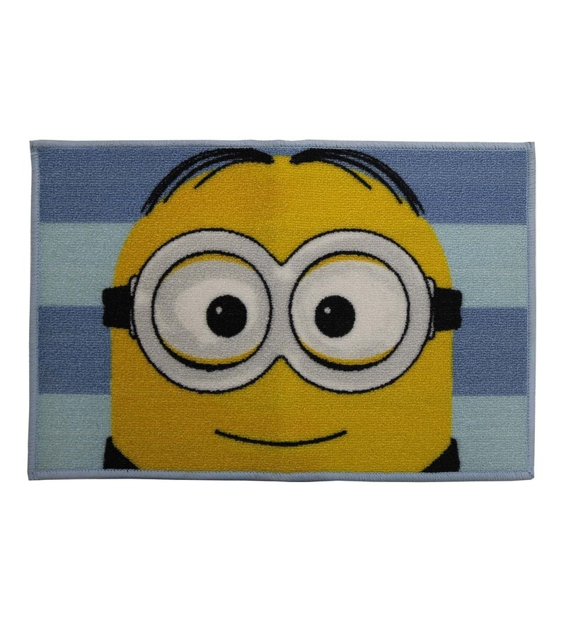 Spaces Blue 100% Cotton 16 x 24 Inch Universal Minions Bath Mat