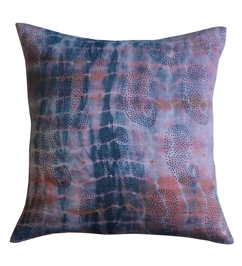 Spaces Brown 100% Cotton 16 x 16 Inch Spun Syahi Cushion Cover