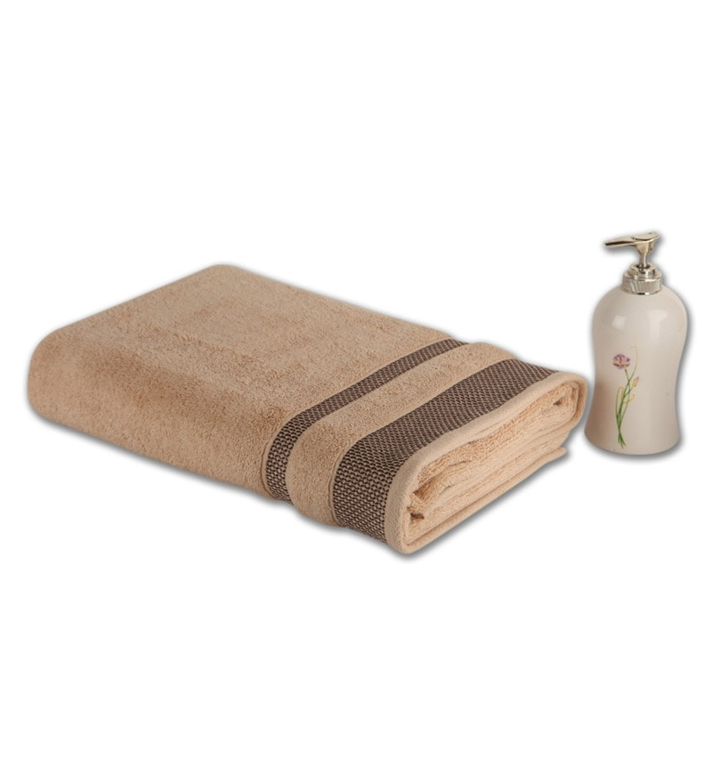 Cream 100% Cotton 30 x 60 Inch Hygro Towel by Spaces