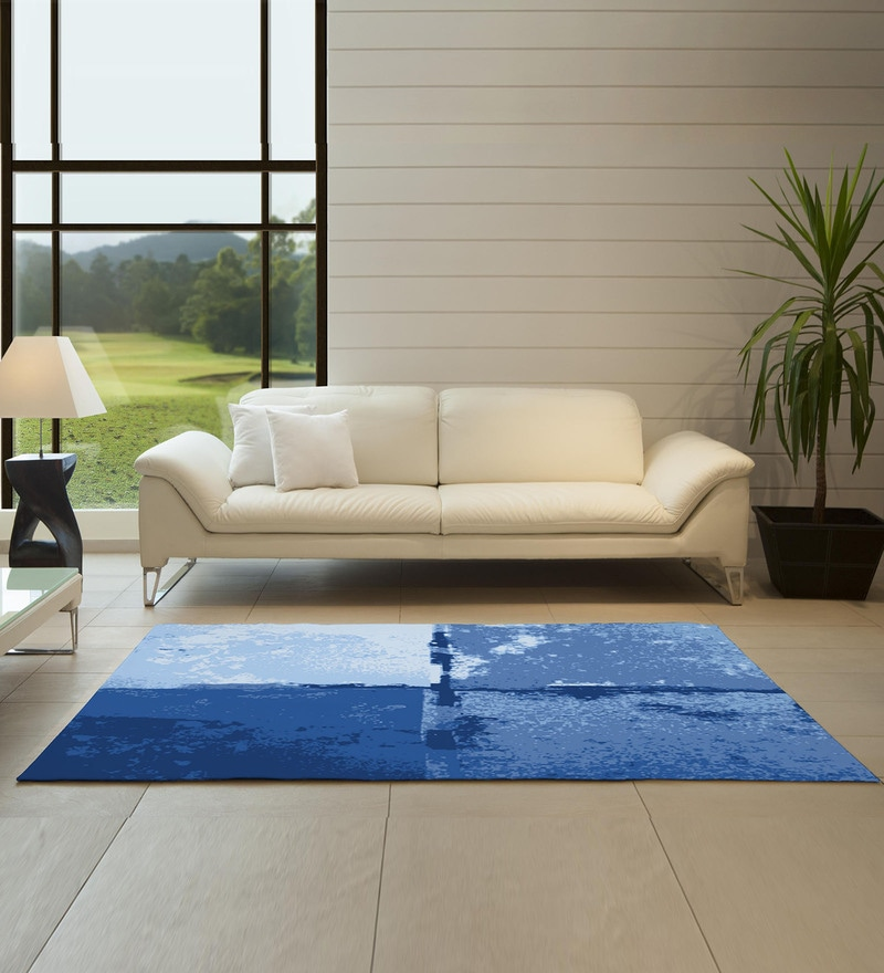 Spaces Denim Blue Nylon 29 x 60 Inch Youthopia Carpet