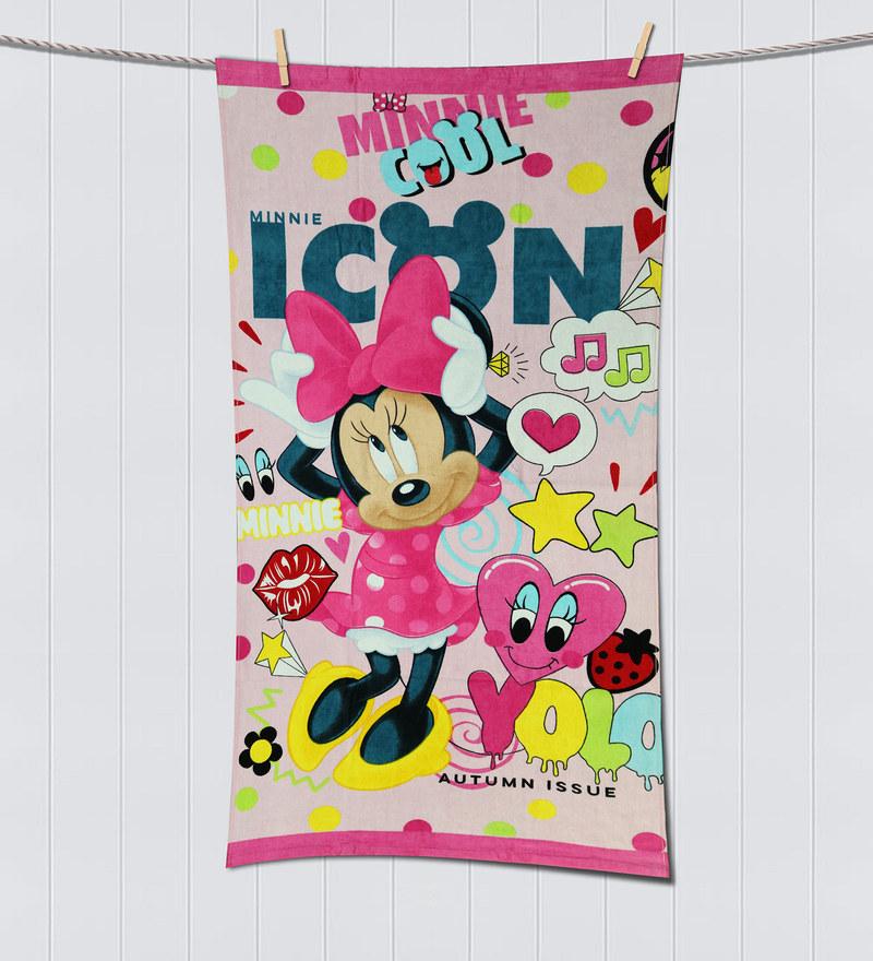 Disney Minnie Pink Bath Towel by Spaces