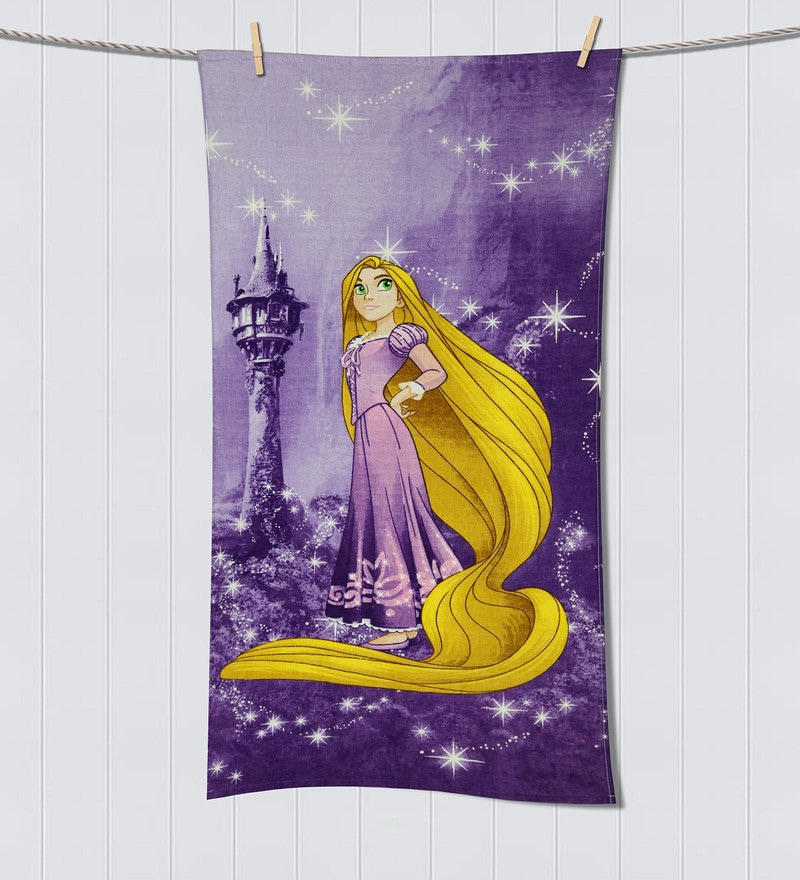 Disney Rapunzel Purple Bath Towel by Spaces