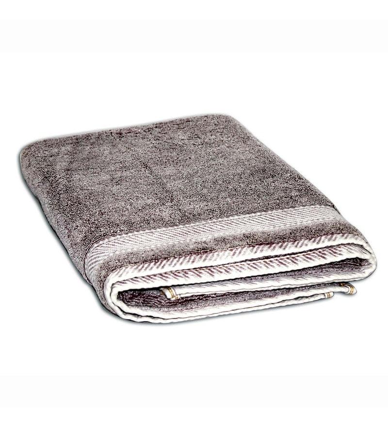 Spaces Maroon 100% Cotton 27 x 59 Inch Youthopia Bath Towel