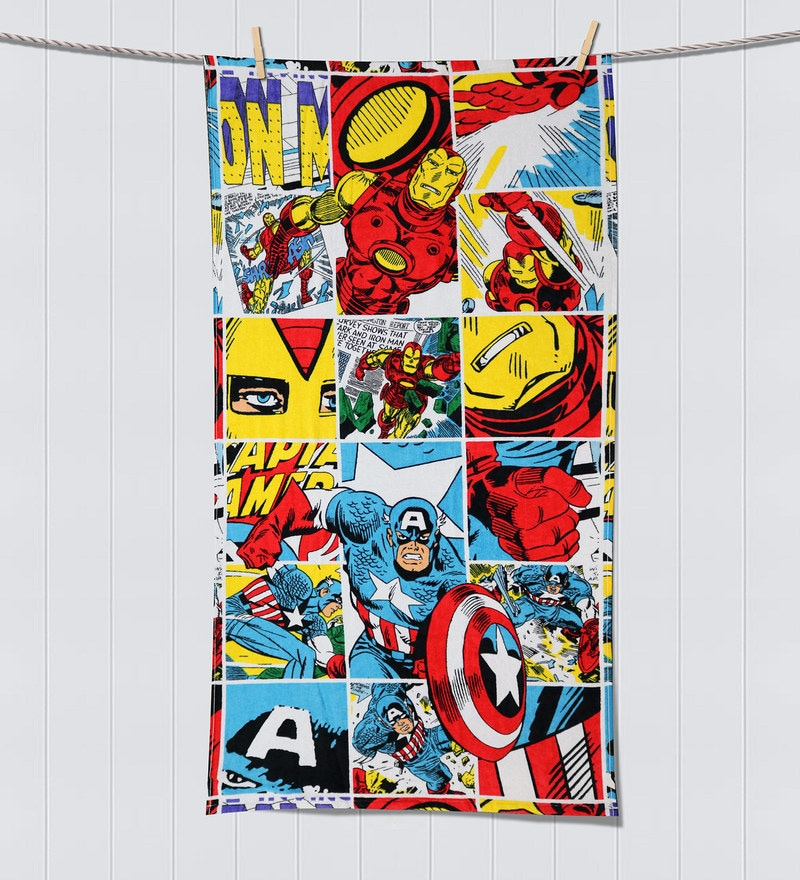 Marvel Comics Multicolour Bath Towel by Spaces