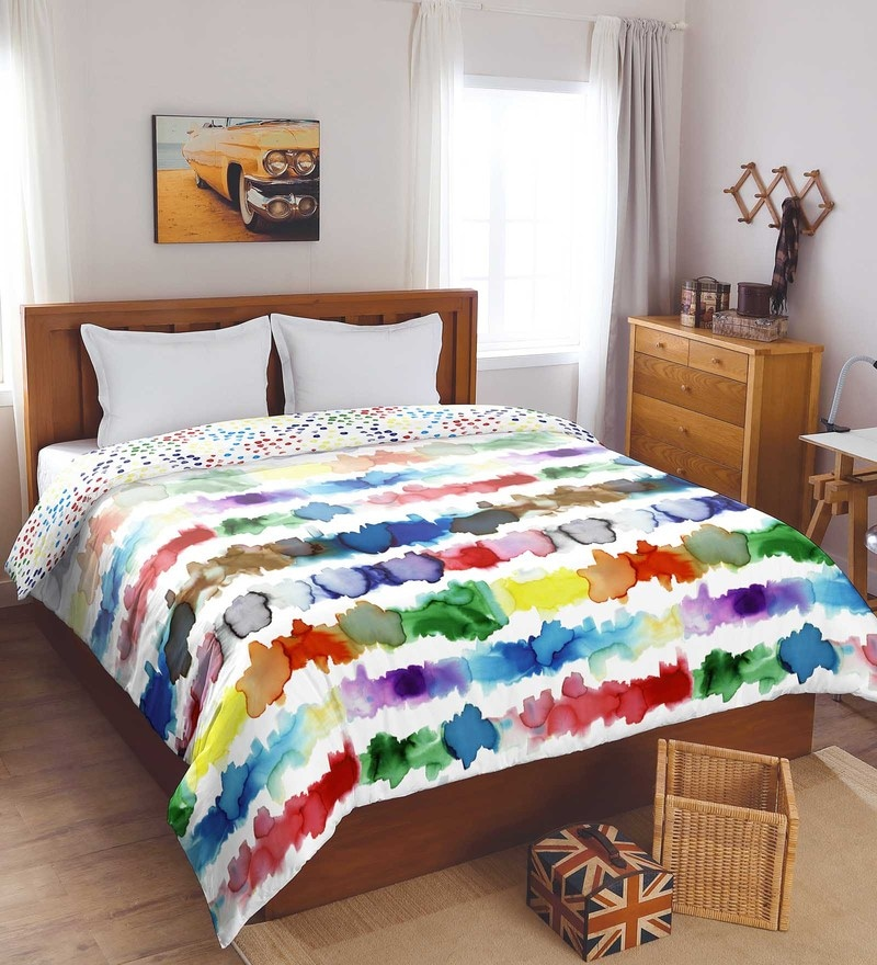 Multicolour Cotton And Polyester 88 x 106 Inch Bohochic Double Comforter by Spaces