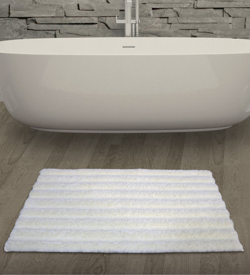 Spaces Pearl 100% Cotton 16 x 24 Inch Swift Dry Small Bath Mat