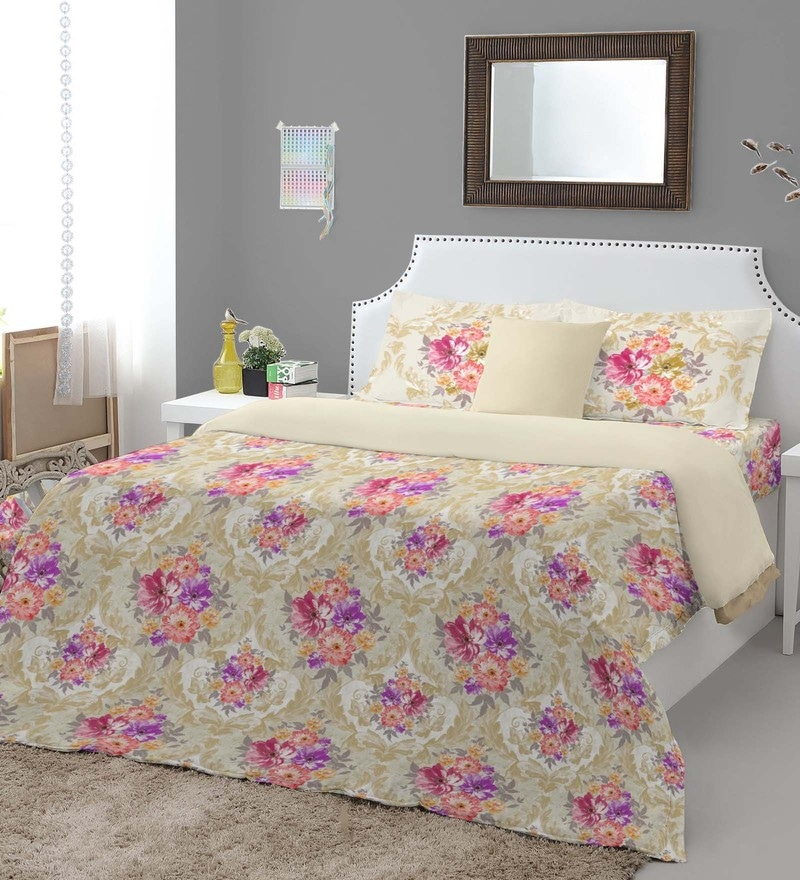Pink 100% Cotton Courtyard King Bed Sheet Set by Spaces