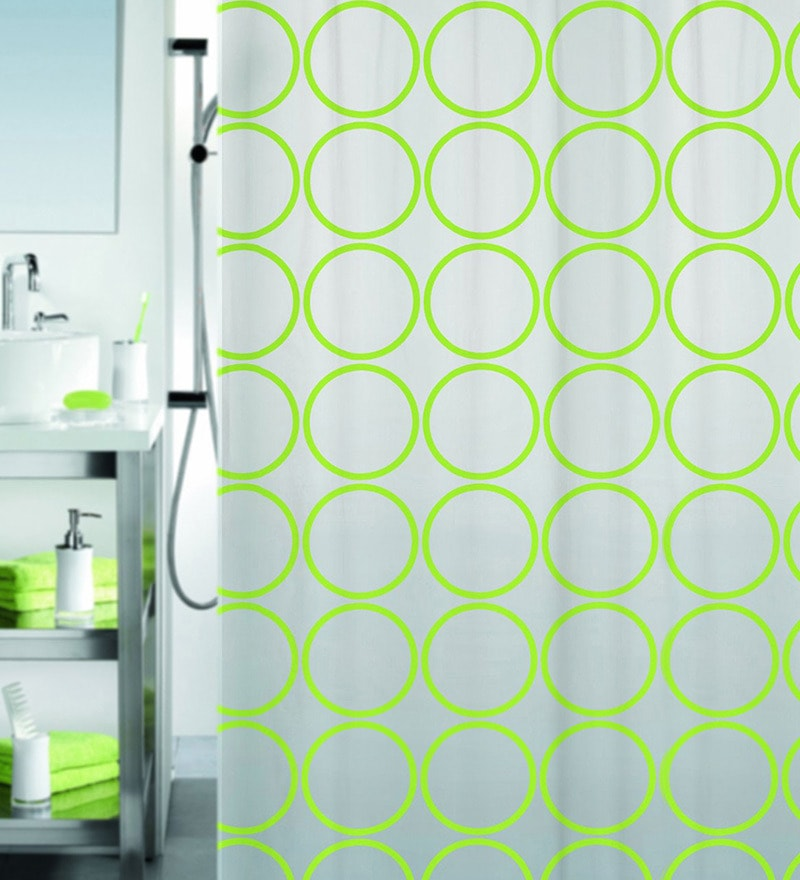 Ando Green Peva Shower Curtain by Spirella