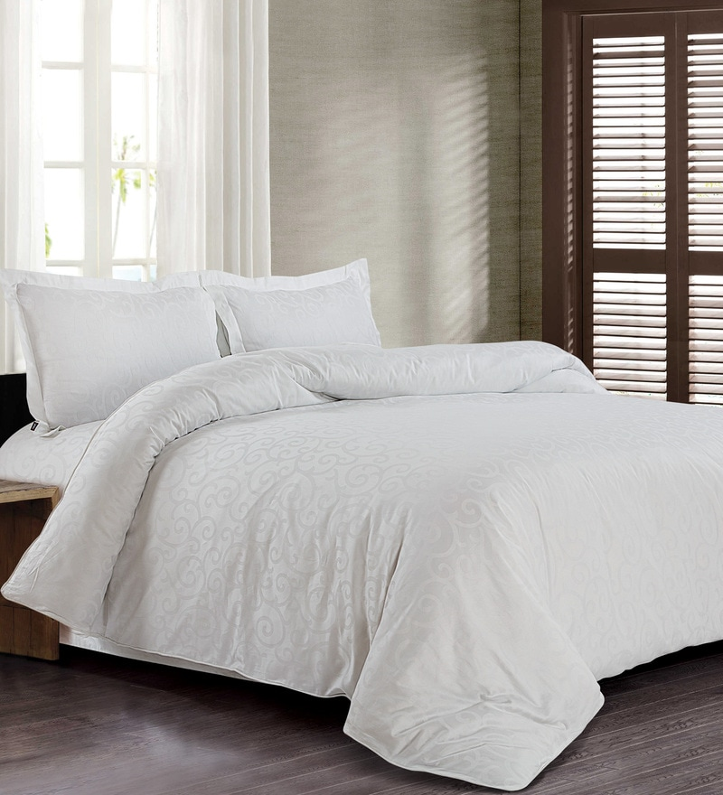 White 100% Cotton Single Size Duvet Cover by Spread
