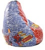 Spiderman Kids Bean Bag with Beans in Multicolour by Orka(With Small - cushion Inside)