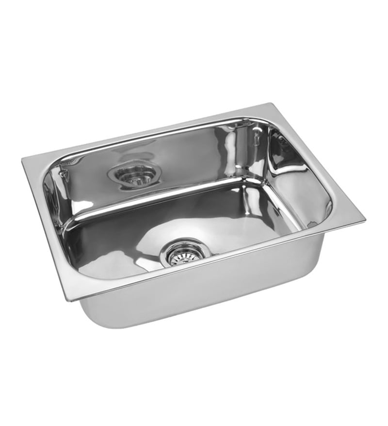 SS Silverware Stainless Steel Single Bowl Kitchen Sink - SS-I-NK