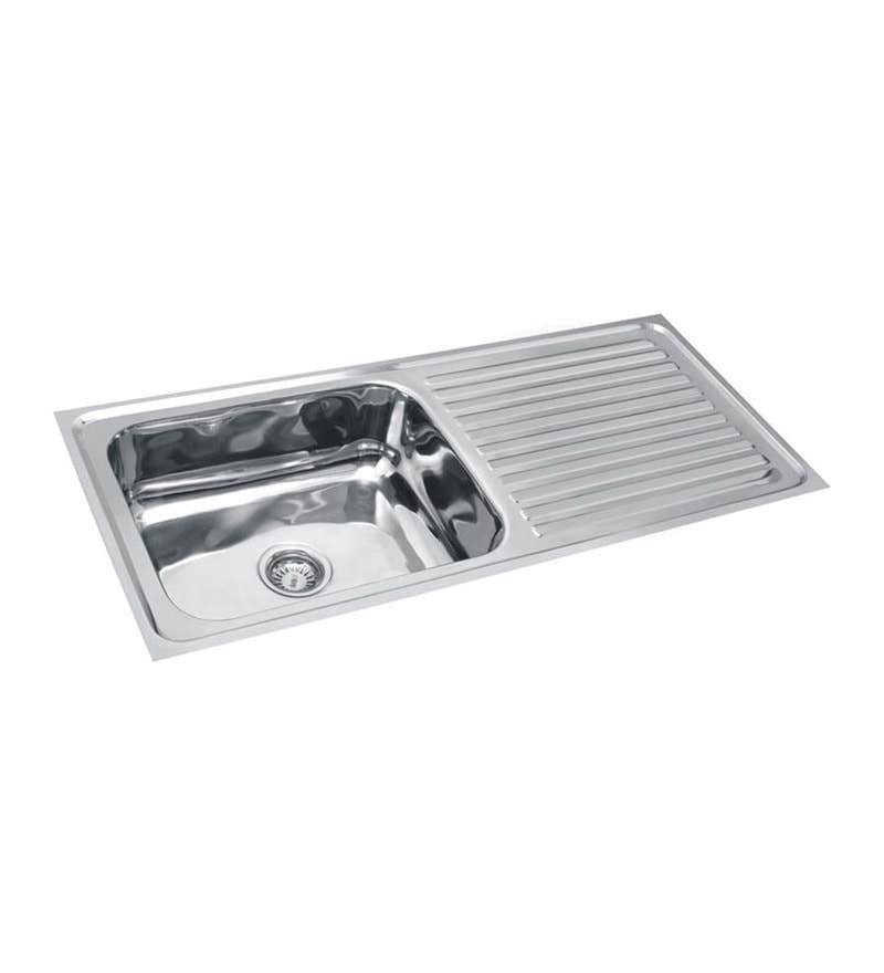 SS Silverware Stainless Steel Single Bowl Kitchen Sink with Drainer - SS-S-SINK