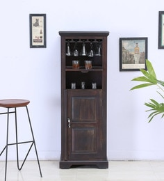Stanfield Bar Unit  In Warm Chestnut Finish