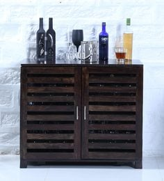 Stigen Bar Cabinet In Warm Chestnut Finish