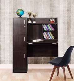 Omura Study Table With Cabinets In Wenge Finish