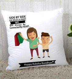 Stybuzz Polyester Multicolour 16 X 16 Inch Rakshbandhan Rakhi Gift Cushion Cover - 1619008