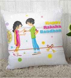 Stybuzz Polyester Multicolour 16 X 16 Inch Rakshbandhan Rakhi Gift Cushion Cover - 1619015