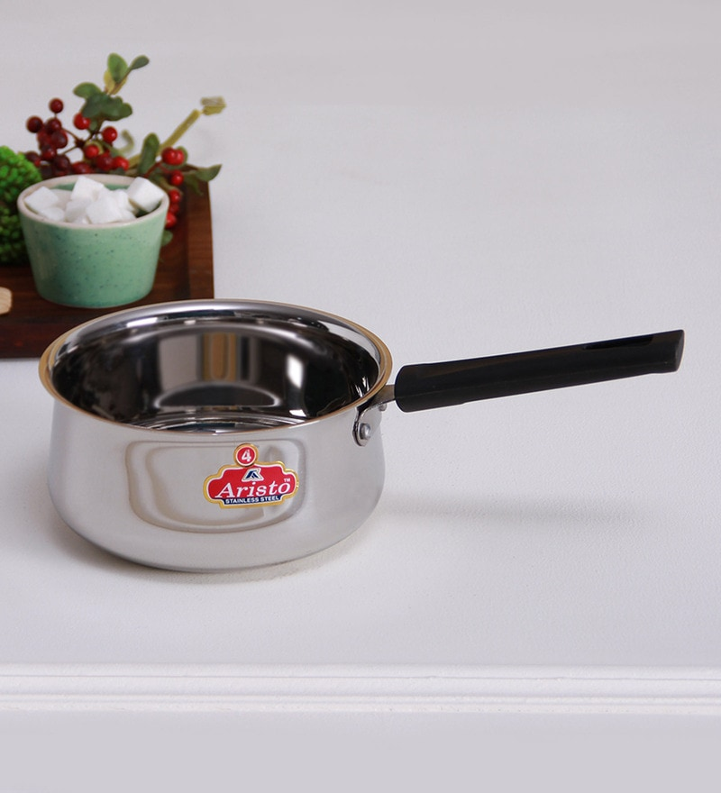 Stainless Steel 1600 ML Induction Bottom Sauce Pan by Aristo