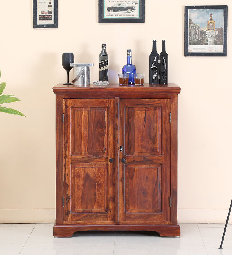 Stanfield Bar Cabinet in Honey Oak Finish by Amberville