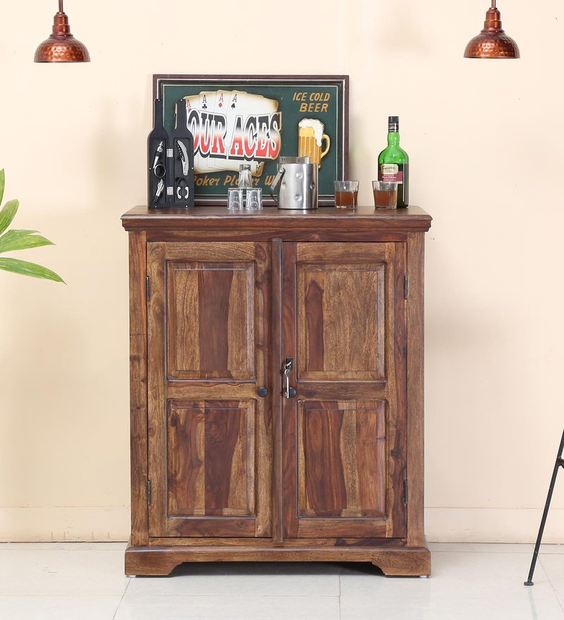 Stanfield Bar Cabinet in Provincial Teak Finish by Amberville