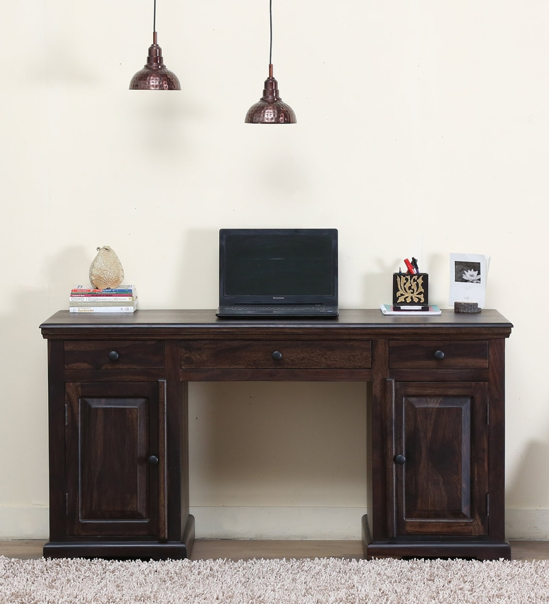 Stanfield Study Table in Warm chestnut Finish by Amberville