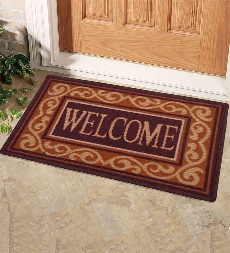Brown Welcome Bogo Mat by Status