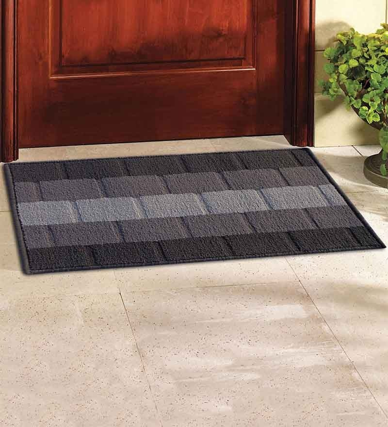 Iris Gray Textured Door Mat by Status