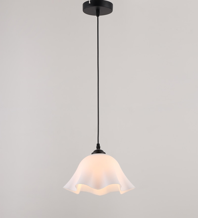 White Plastic Pendant by Stello