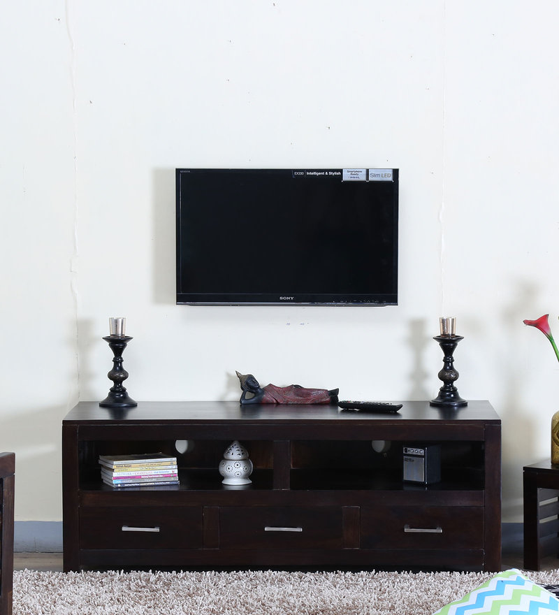 Stigen Entertainment Unit in Warm Chestnut Finish by Woodsworth