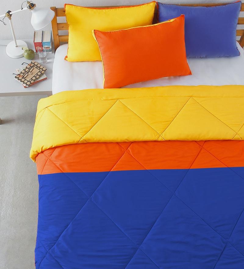 Multicolour Microfibre Patchwork Comforter by Stoa Paris