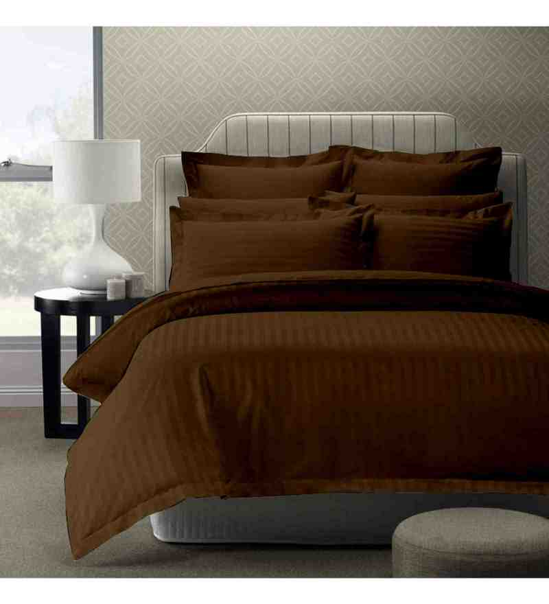 Brown 100% Cotton 108 x 108 Inch Foreverxl Bed Sheet Set by Story@Home