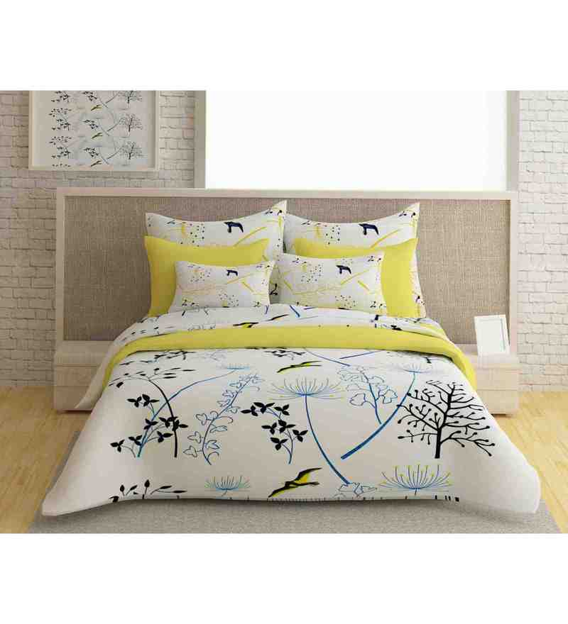 Multicolour 100% Cotton 88 X 108 Inch Forever Bed Sheet Set by Story@Home
