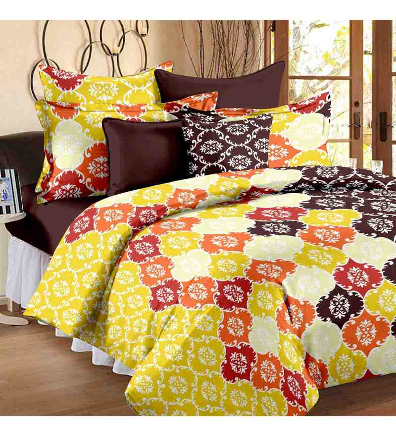 Yellow 100% Cotton 88 x 93 Inch Candy Bed Sheet Set by Story@Home
