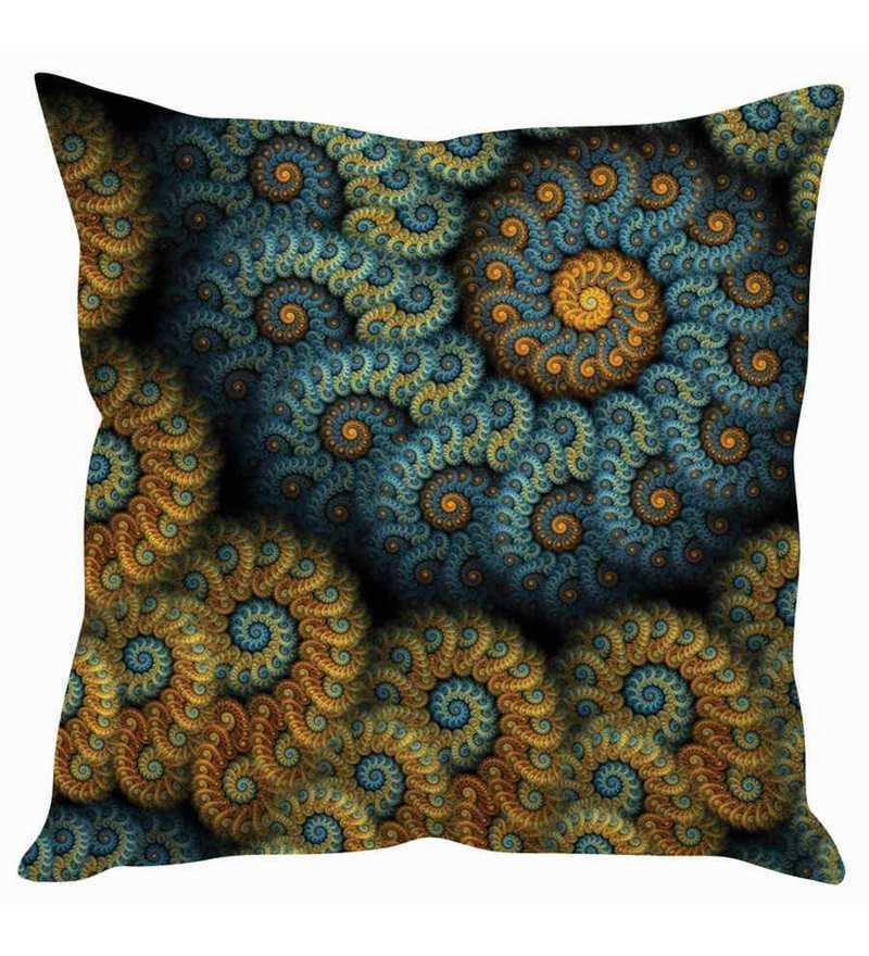 Multicolor Silk 16 x 16 Inch Cushion Cover by Stybuzz