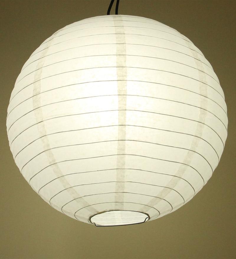 White Paper Round Lantern by Stybuzz