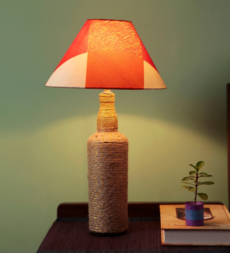 Multicolour Fabric Table Lamp by Style Home
