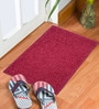 Brown & Maroon Delure 23 x 15 Inch Door Mat- Set of 2 by Status