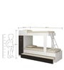 McHannah Storage Kids Bunk Bed with Trundle in Black & White by Mollycoddle