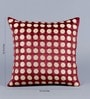 Maroon Velvet 16 x 16 Inch Polka Dots Embroidered Cushion Cover - Set of 5 by Stybuzz