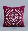 Purple Velvet 16 x 16 Inch Circle Pattern Embroidered Cushion Cover - Set of 5 by Stybuzz