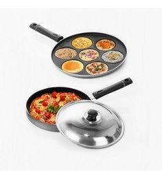 Sumeet Nonstick Oscar Combos Of Pizza Pan & Multi Snack Maker - Set Of 2