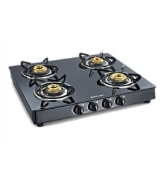 Sunflame Crystal 4B BK Toughened glass cooktop at pepperfry