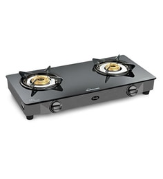 Sunflame Crystal Curve 2B SS Auto Ignition Glass Cooktop at pepperfry